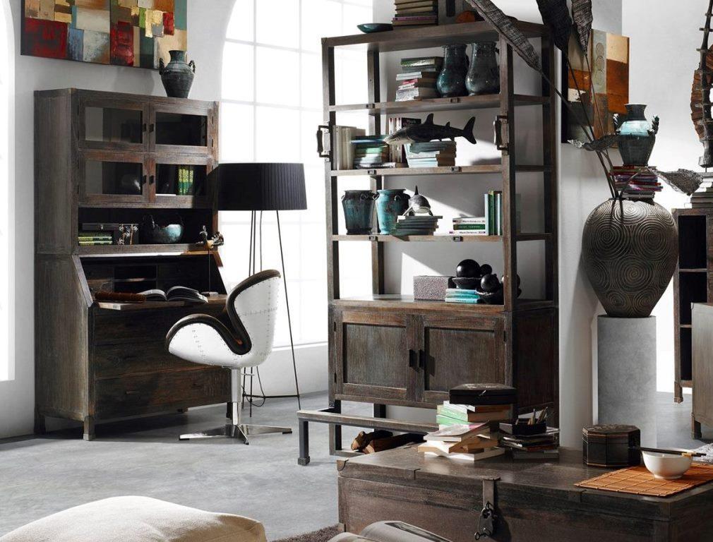 Libreria colonna industrial living mobili etnici provenzali chic