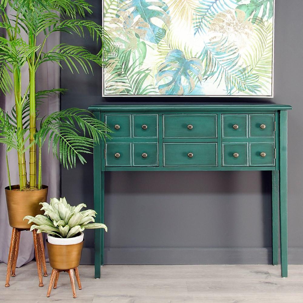 Consolle orientale verde scuro mobili stile giapponese - Mobili stile giapponese ...