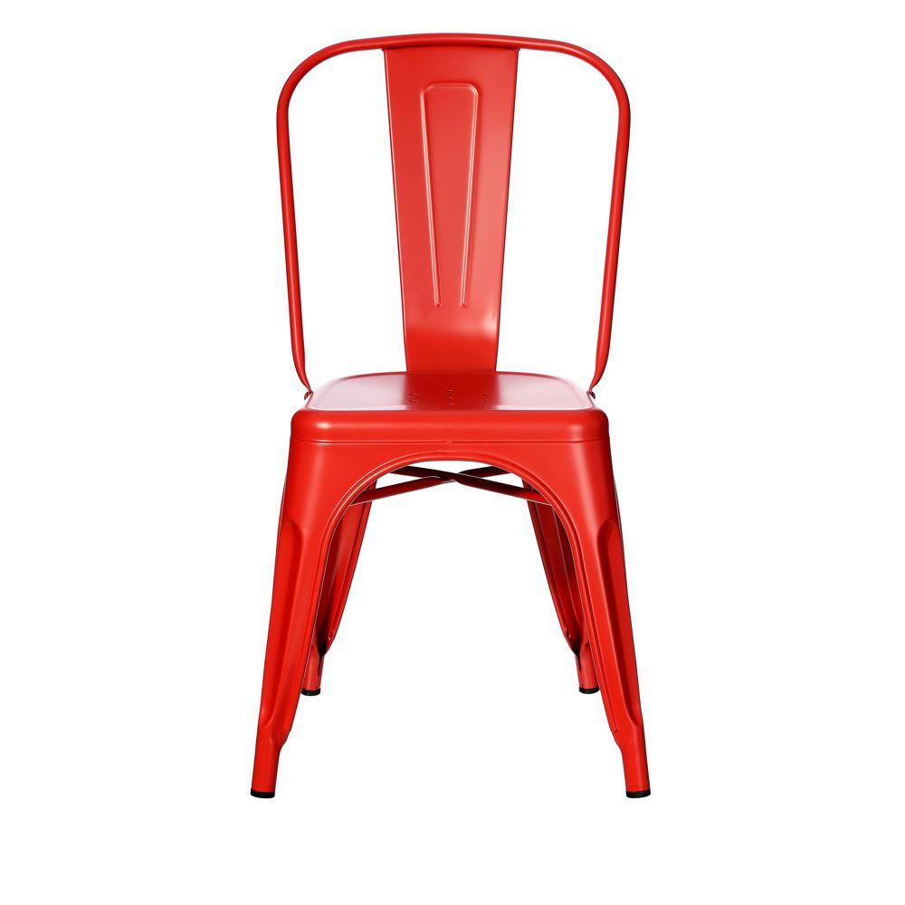 Sedia industrial chic rossa metallo Sedie stile industriale