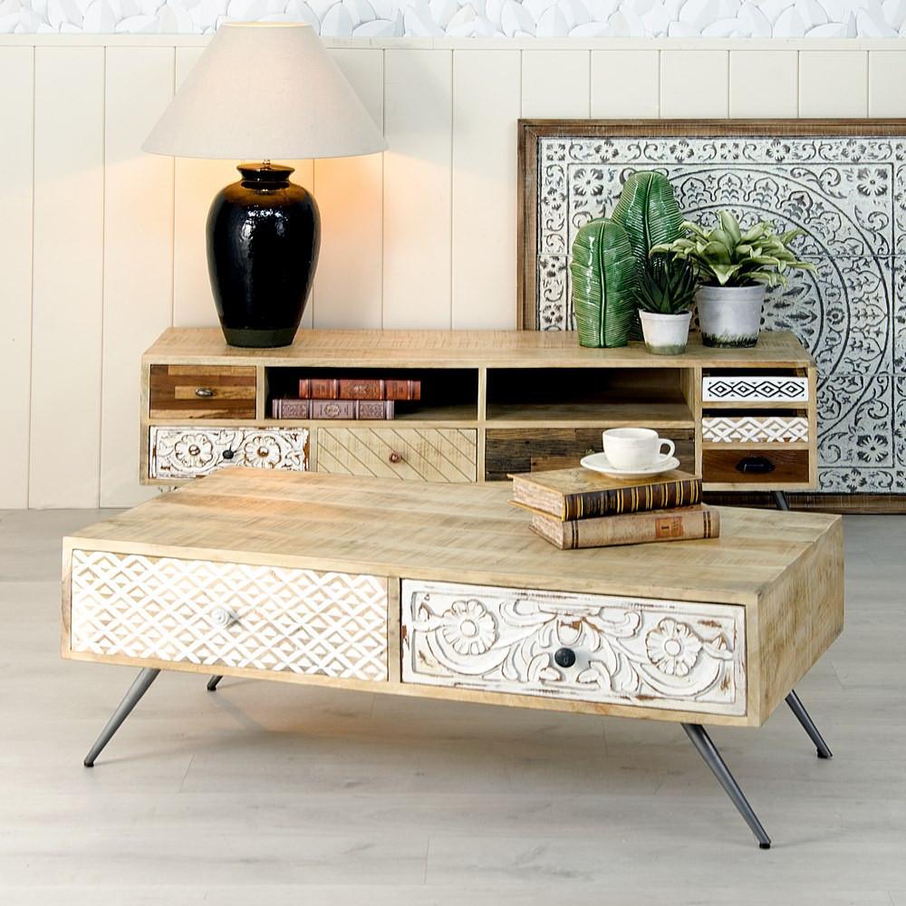 Tavolino Da Soggiorno Vintage.80 Cm Dandibo 5084 H Tavolino Da Salotto Vintage A Mezza