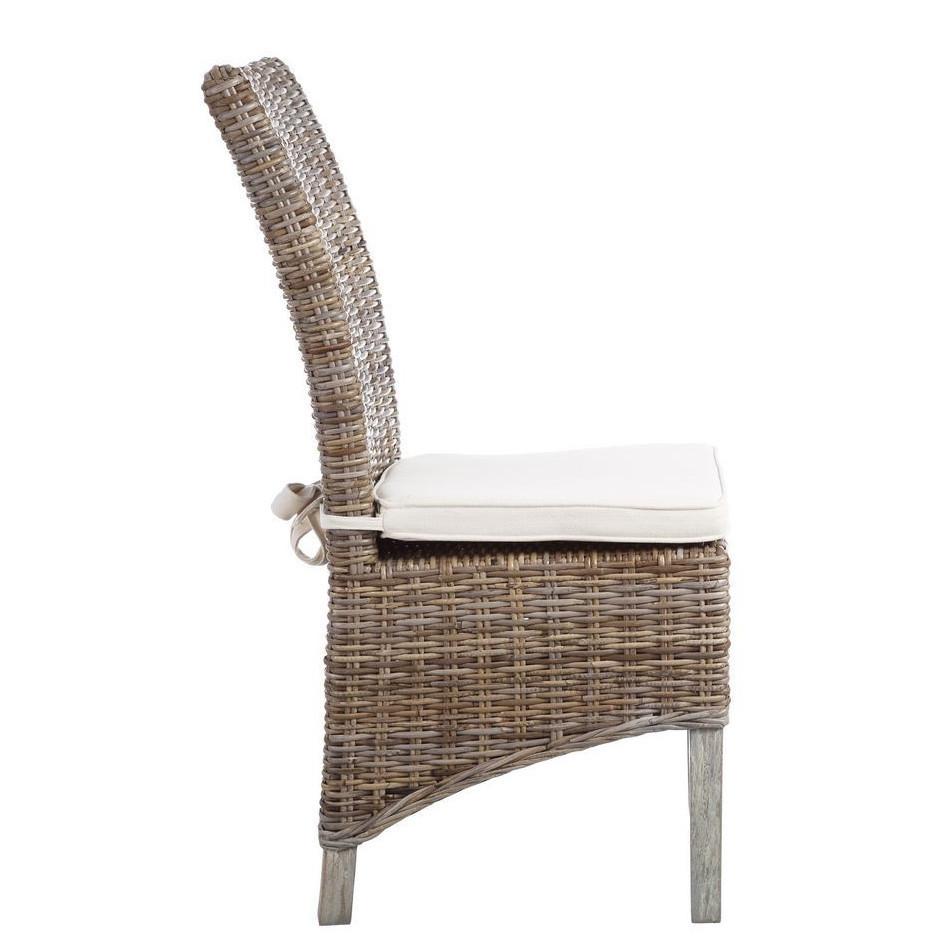 Sedia rattan e legno mango mobili giardino rattan online - Sedia in rattan ...
