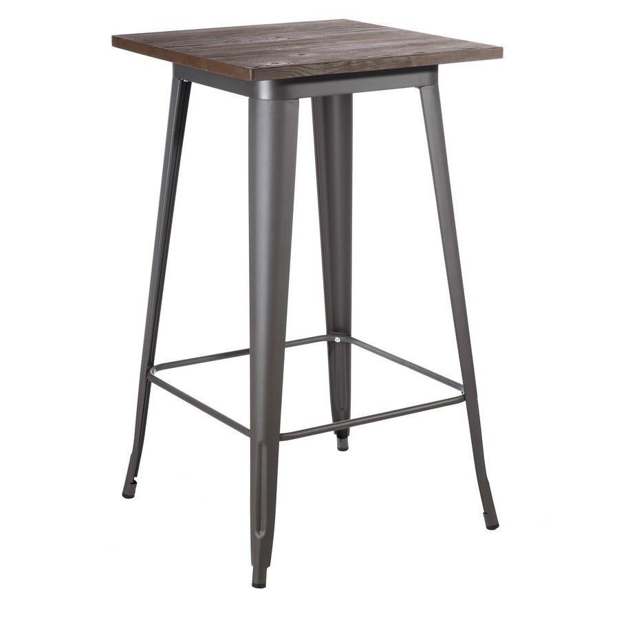 Tavolo bar alto industrial grigio arredi bar stile industriale for Bar stile industriale