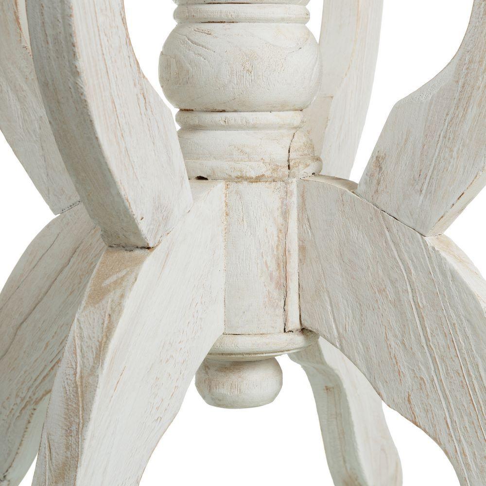 Tavolino salotto alto bianco shabby mobili legno massello for Salotto bianco
