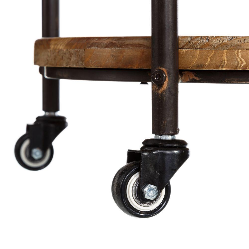 Etagere industrial tonda con ruote mobili librerie industrial for Mobili industrial