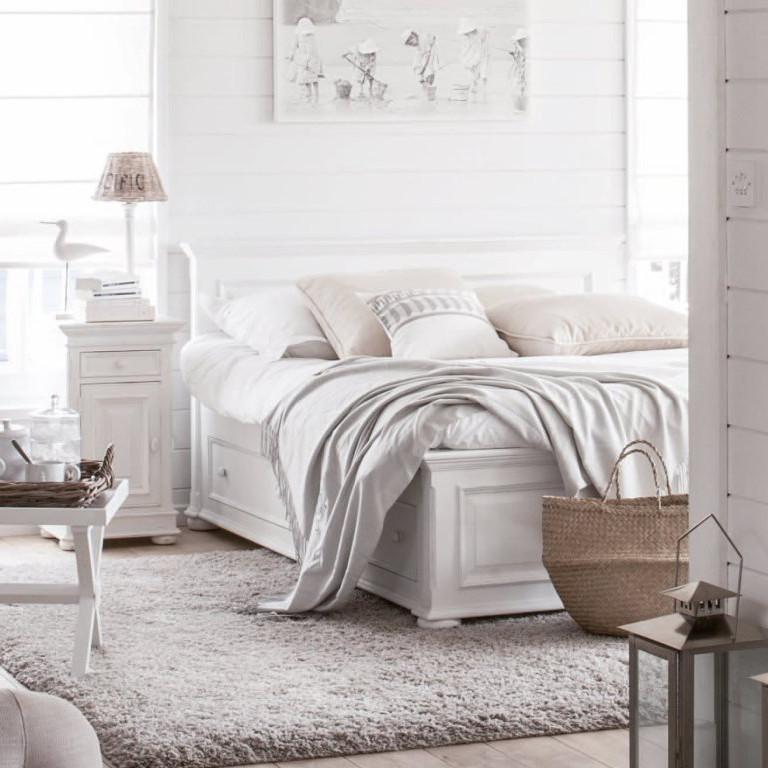 Letto francese bianco shabby chic camere da letto shabby for Camere da letto on line