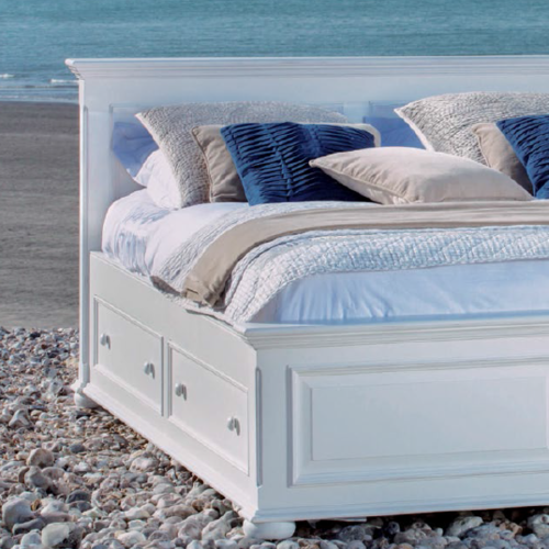 Letto francese bianco shabby