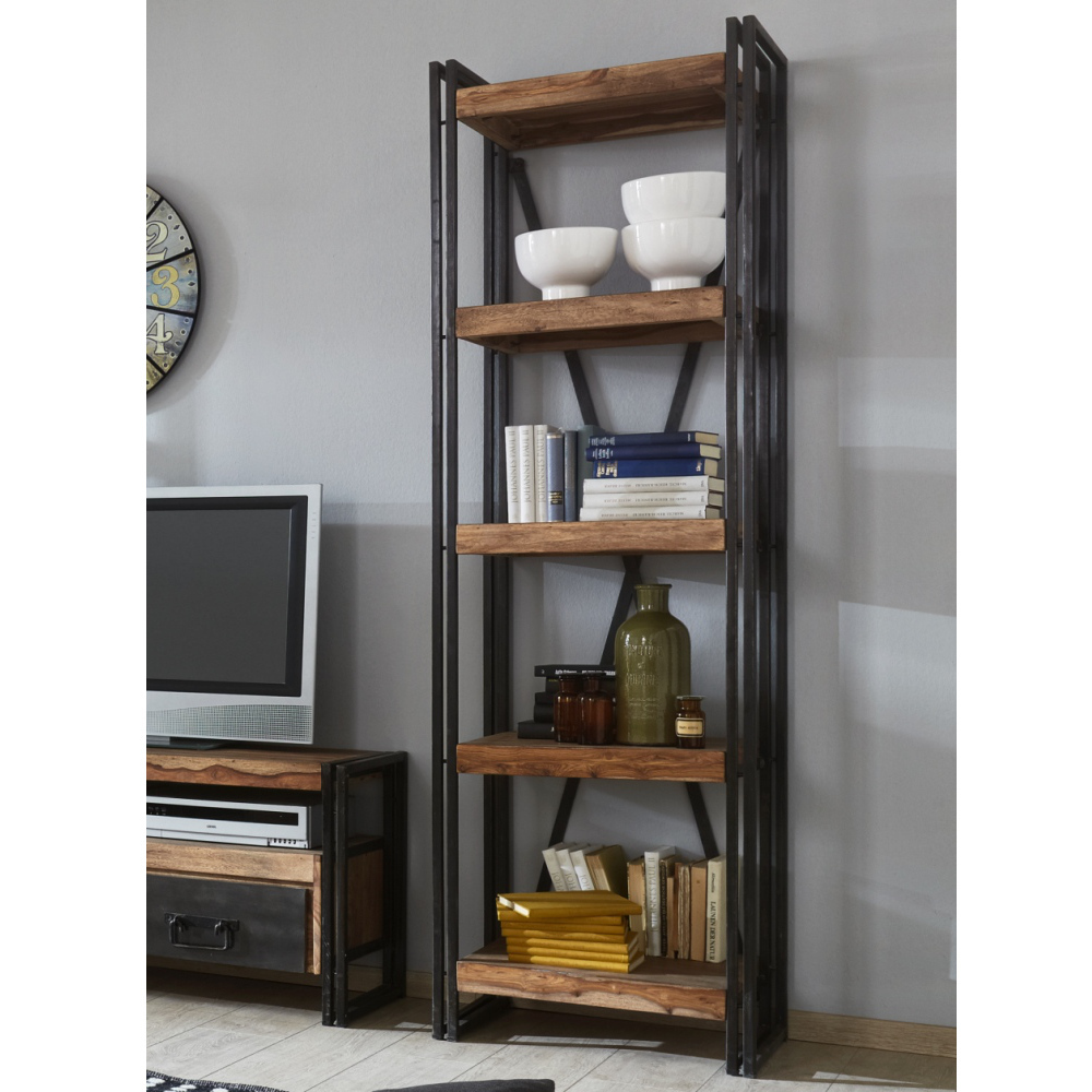 Libreria Scaffali Parete.Libreria Scaffali Parete Industrial New Style