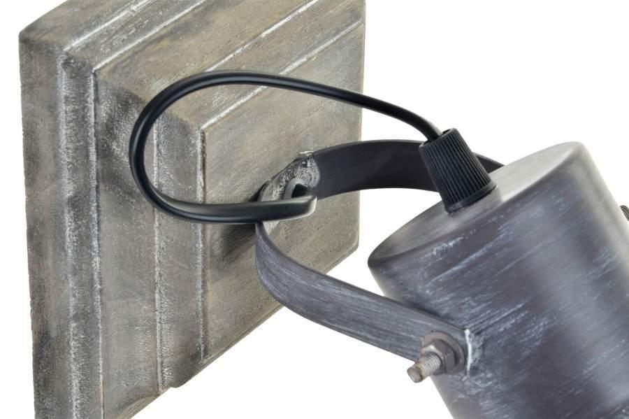 Applique industrial metallo e legno applique offerta online