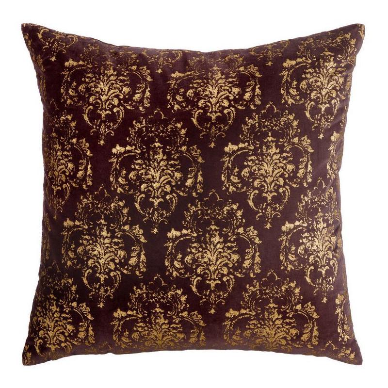 Cuscino per divano bordeaux oro arredamento dec online - Cuscino per divano ...