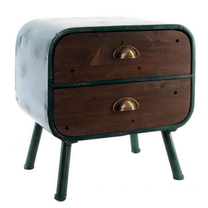 Comodino vintage legno anticato Camere letto Stile industriale