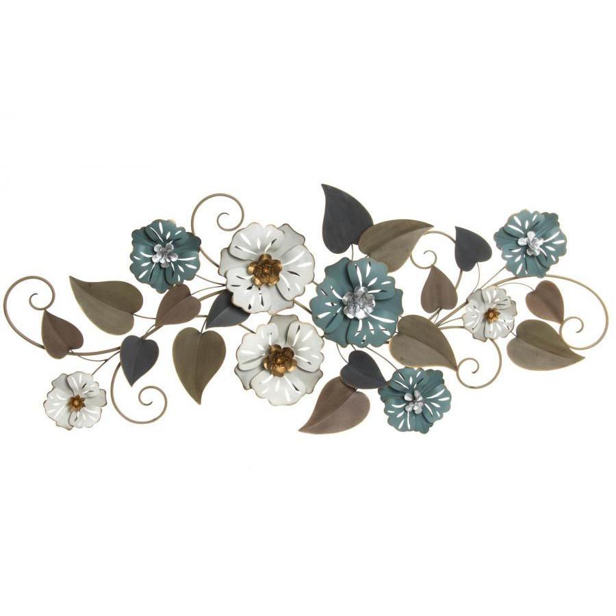 decorazioni parete vintage fiori metallo quadri scontati 70