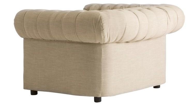 Divano Lino Grezzo : Poltrona chester chic in lino grezzo divani e poltrone vintage
