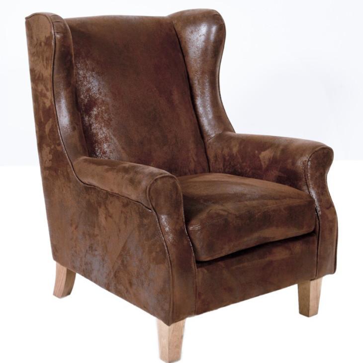 Poltrona vintage scamosciata Poltrone e divani stile industriale