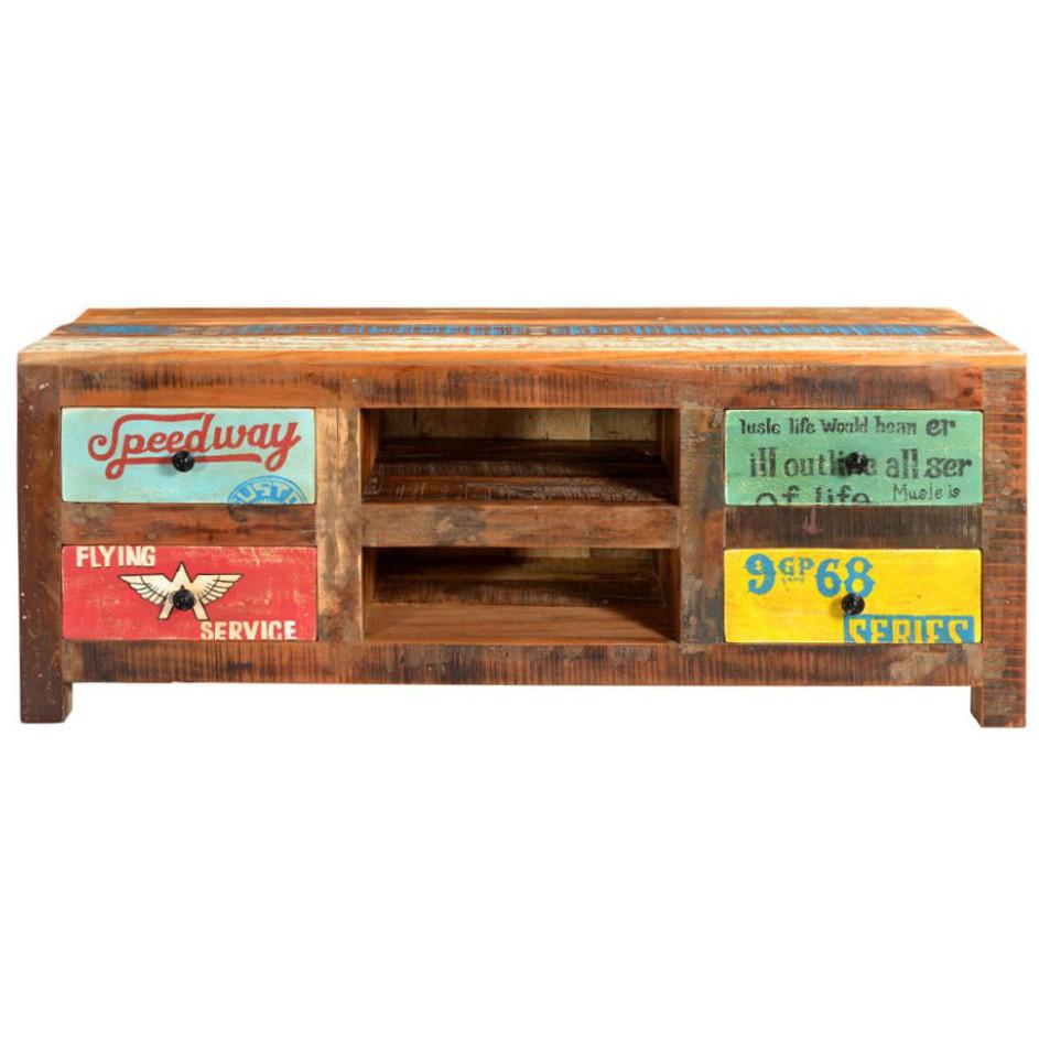 Porta Tv Vintage.Porta Tv Vintage Dipinto