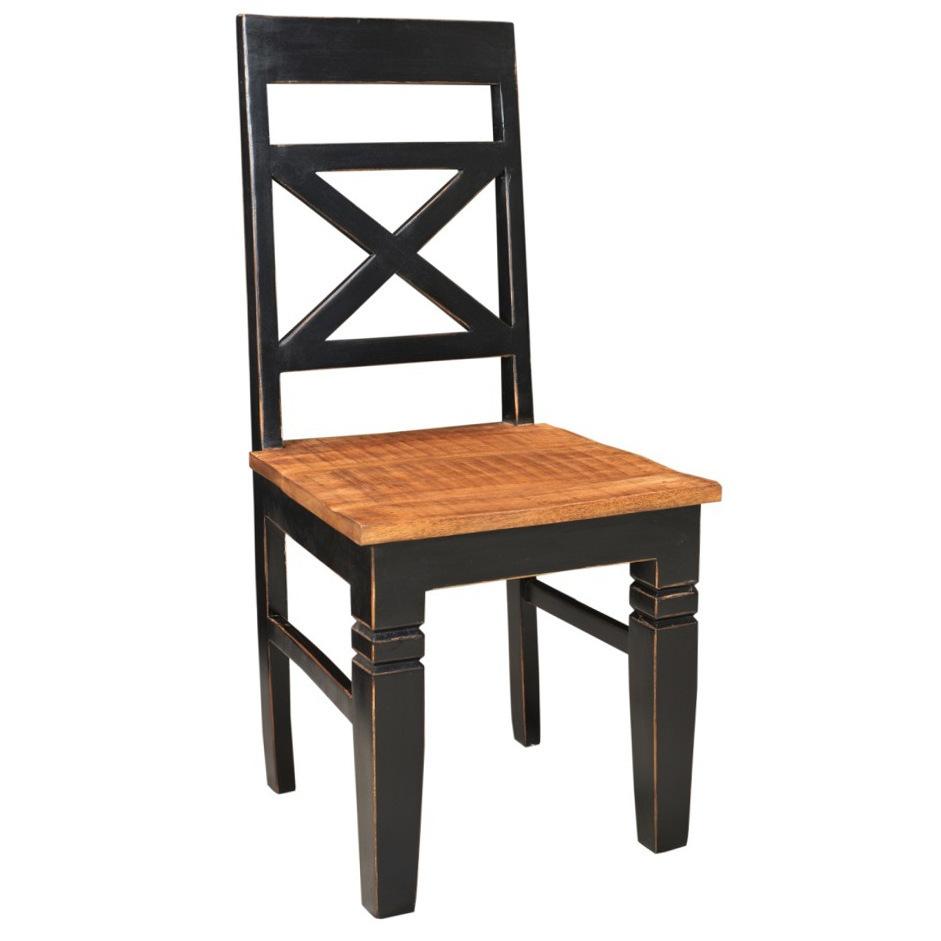 Sedia legno massello shabby noir- Mobili Provenzali e Shabby