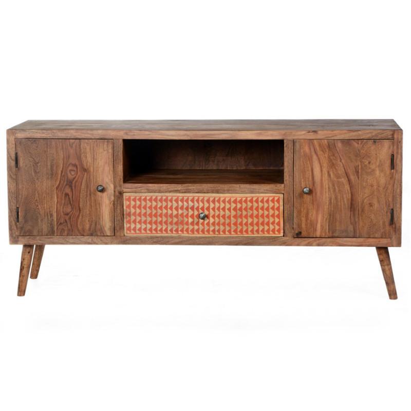 Porta tv vintage legno massello sheesham Arredare OnLine