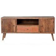 Porta tv vintage legno massello sheesham