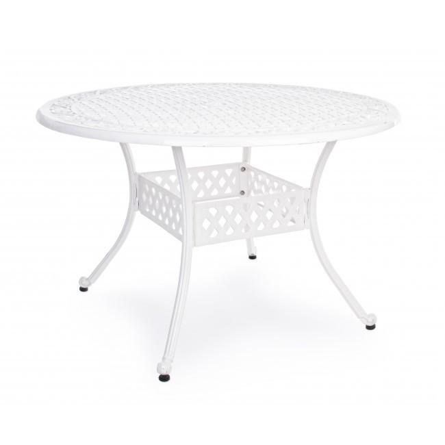 Tavolo tondo provenzale bianco giardino tavoli shabby esterno - Tavolo tondo bianco ...