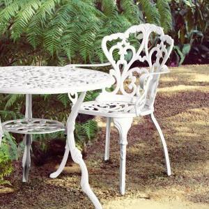 Tavoli Da Giardino Provenzali.Sedia Francese Da Giardino Bianca Mobili Provenzali Esterno
