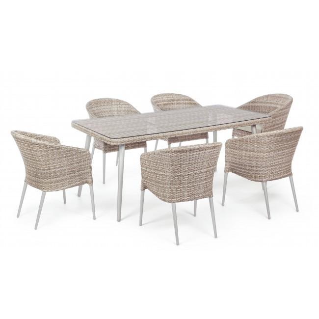 Tavolo 6 sedie per esterno offerta mobili giardino for Sedie per esterno