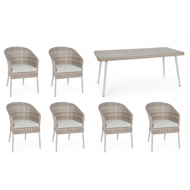 Tavolo + 6 sedie per esterno OFFERTA Mobili giardino