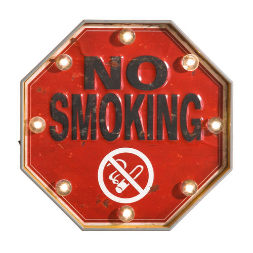 Murale luminoso vintage NO SMOKING