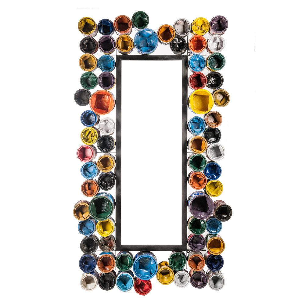 Specchio industrial barattoli vernice cornici stile industriale - Vernice a specchio ...