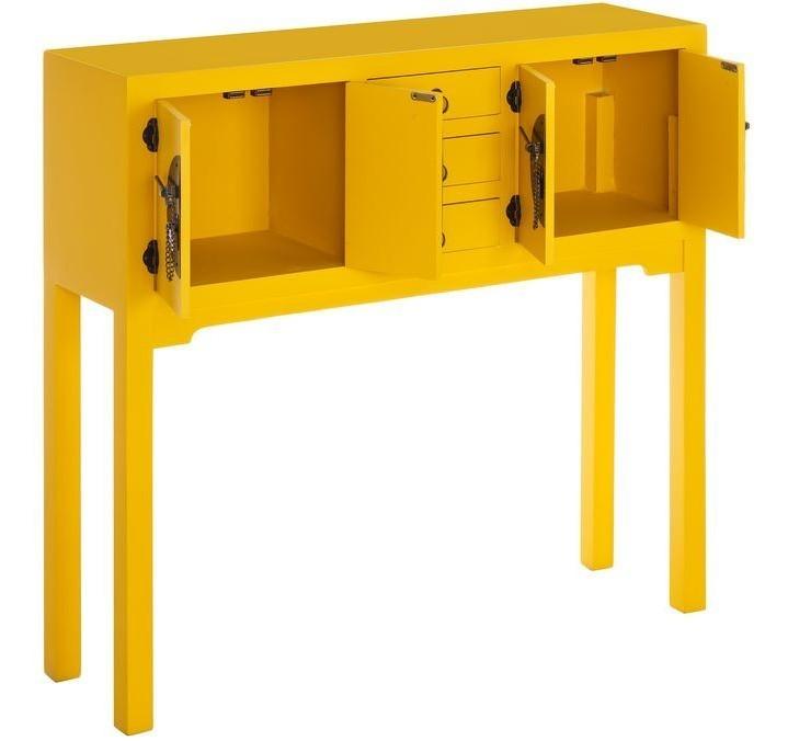 Consolle scrivania cinese gialla mobili orientali online for Consolle scrivania