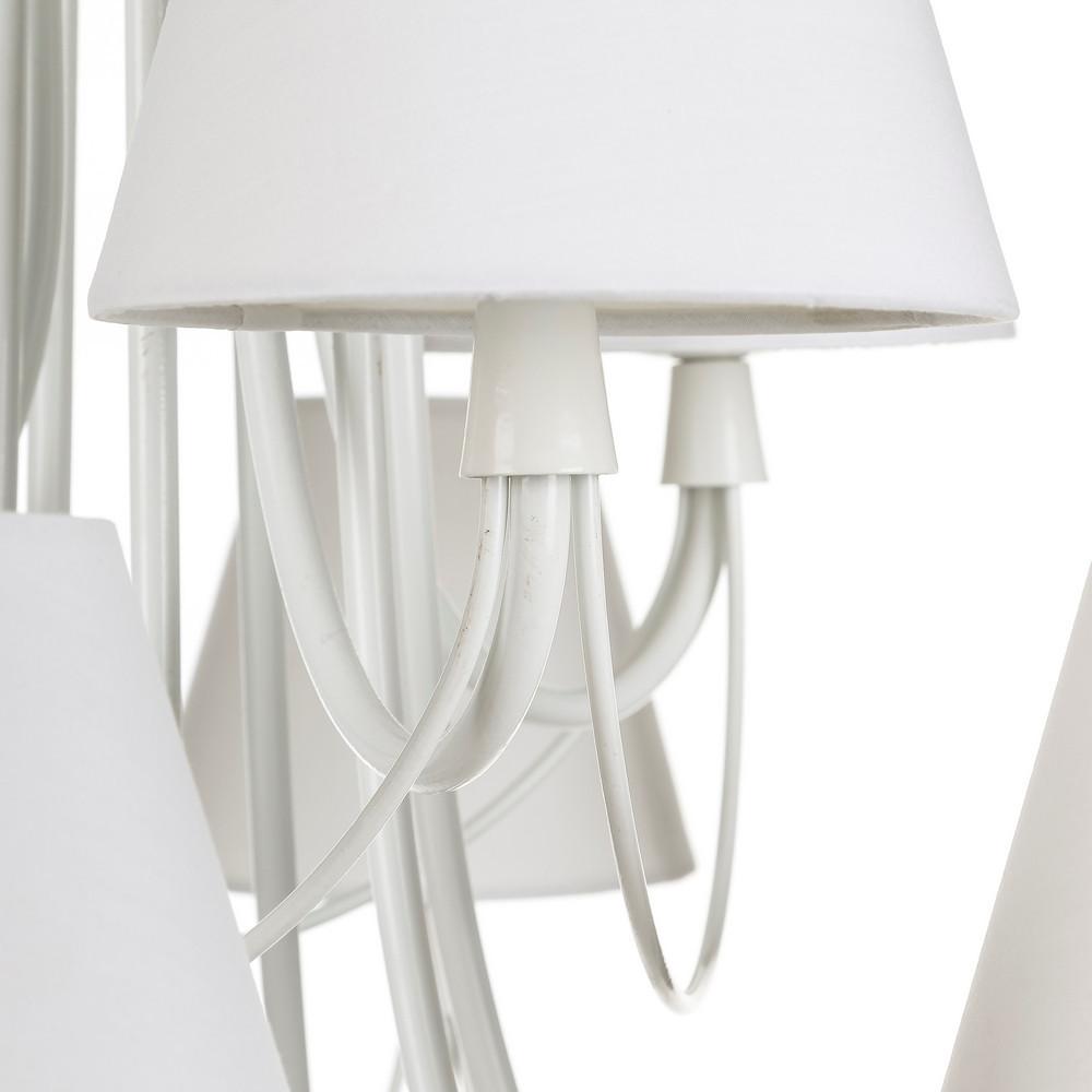 Lampadario provenzale bianco 9 luci arredamento romantico for Bianco e dintorni arredamento provenzale