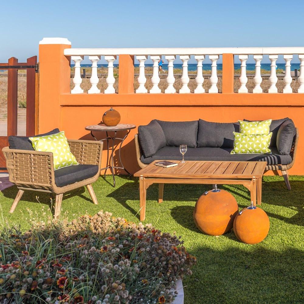 Poltrona giardino vintage grigia mobili per esterno industrial for Poltrona giardino