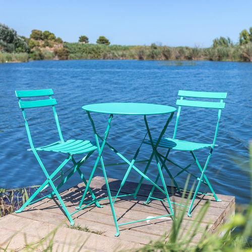 Set tavoli e sedie etniche industrial shabby provenzali for Sedie turchesi