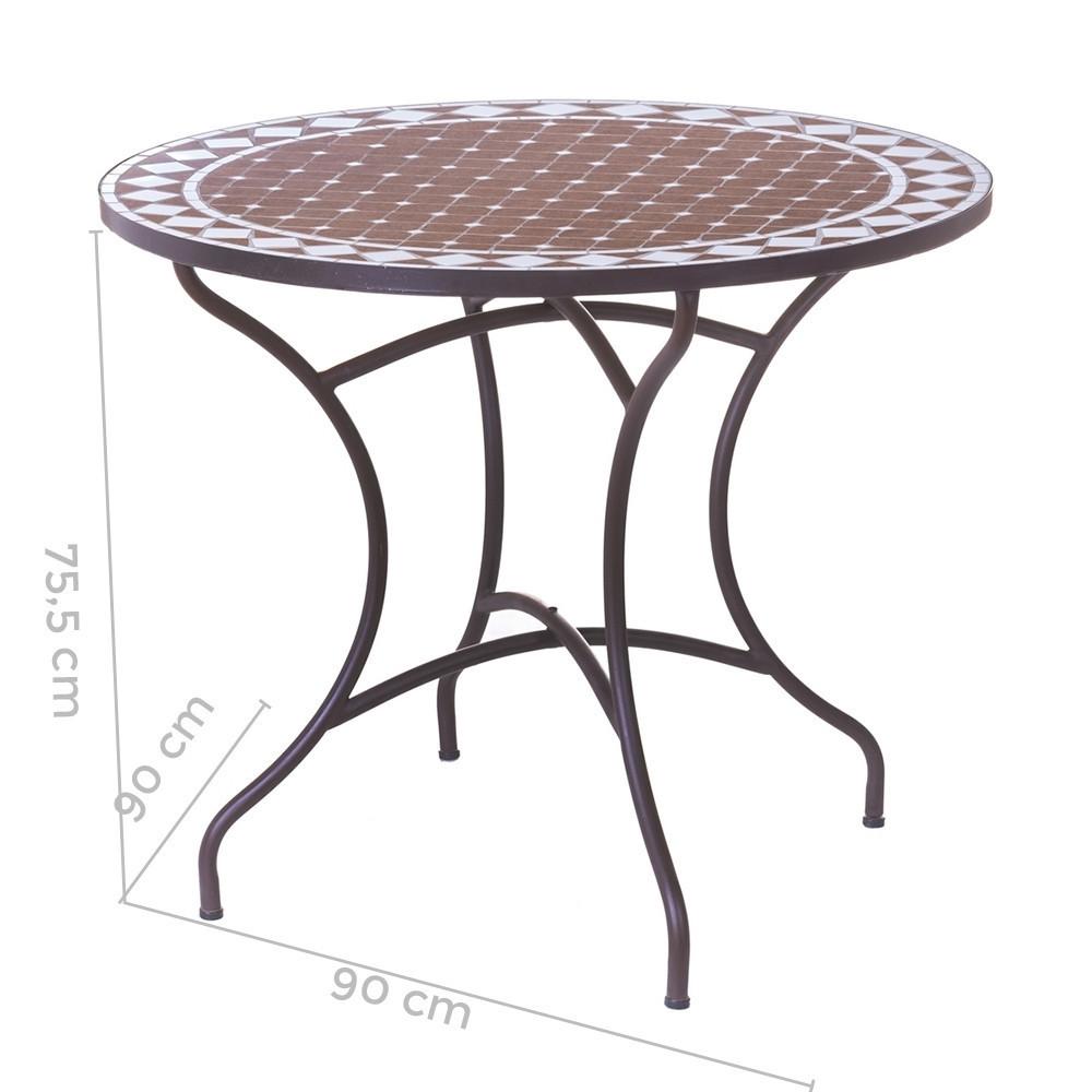 Tavolo rotondo ceramica e ferro Mobili ferro battuto scontati