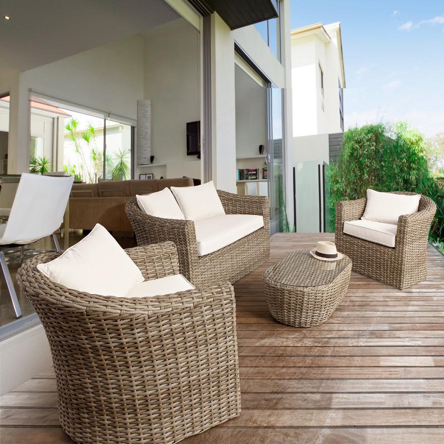 Divano per esterno rattan mobili etnici provenzali giardino for Divani x esterno