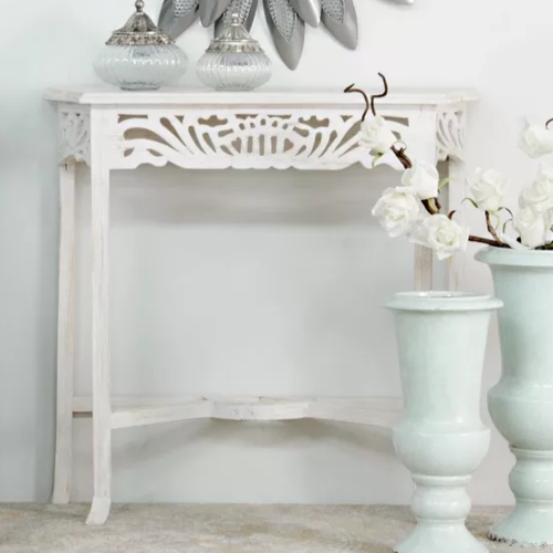 Consolle provenzale bianco shabby