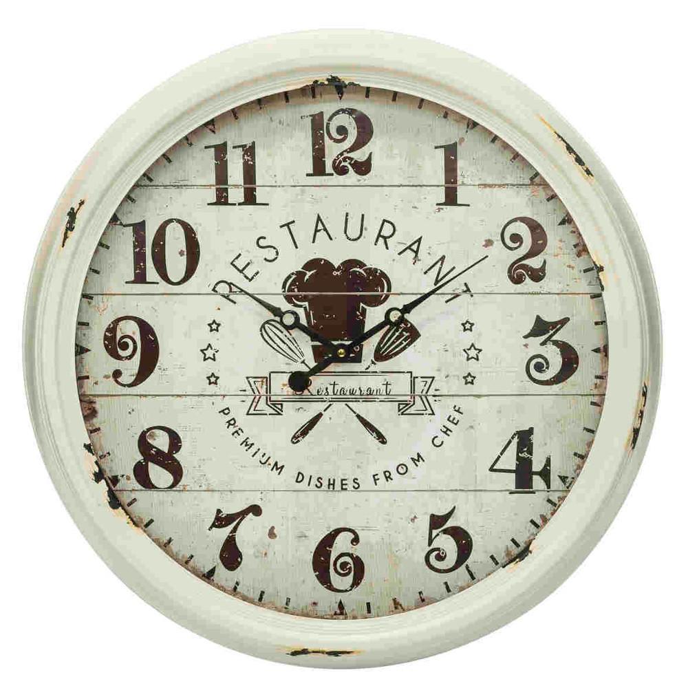 Orologio da muro vintage chef orologi industrial provenzali for Orologio da muro shabby