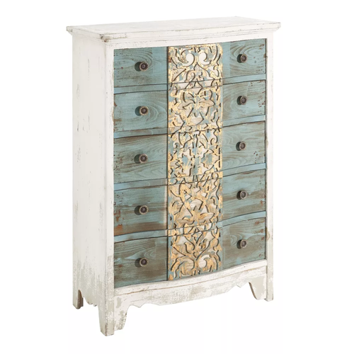 Cassettiera francese shabby chic