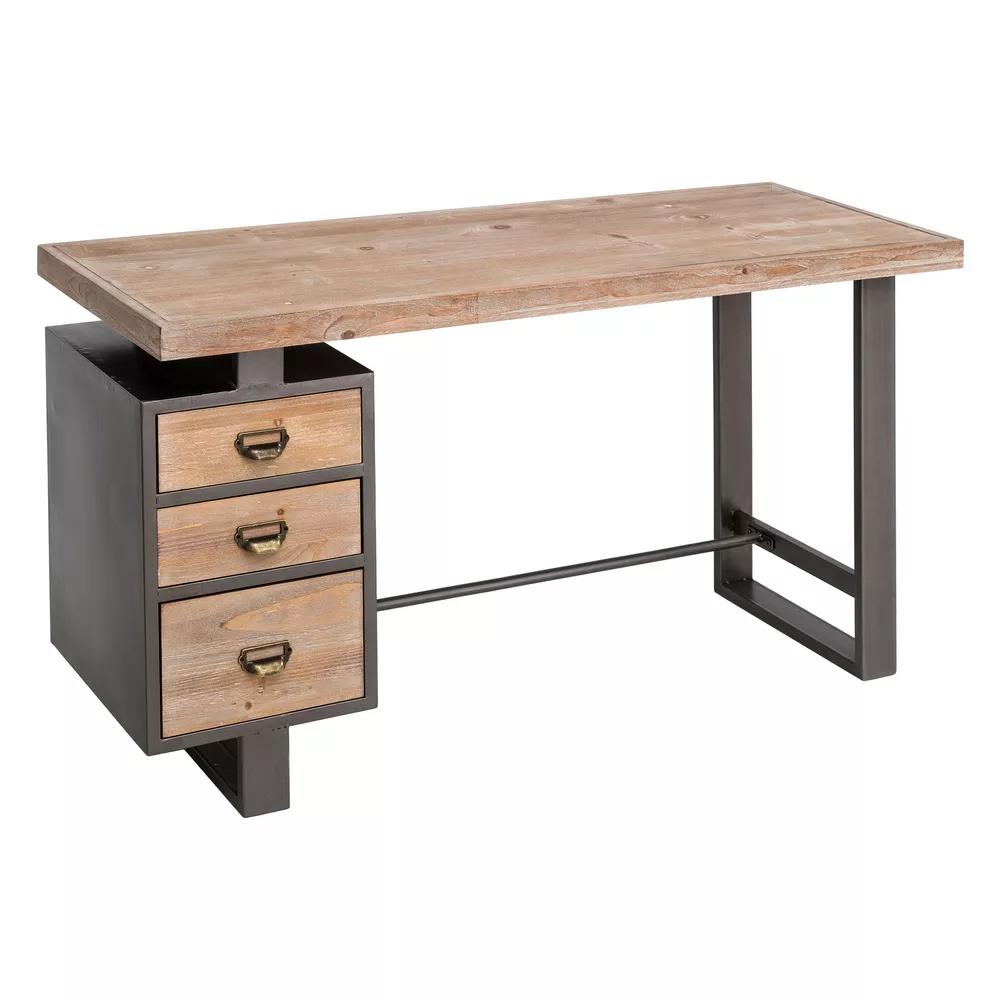 Scrivania ufficio vintage legno e ferro vintage vendita online for Scrivania legno