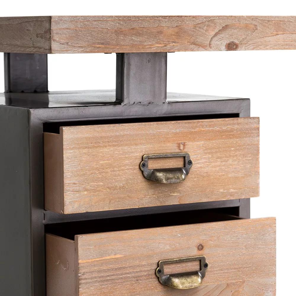 Scrivania ufficio vintage legno e ferro vintage vendita online