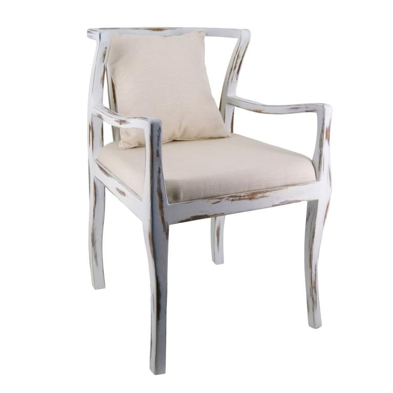 Sedia legno bianco shabby - mobili provenzali shabby chic