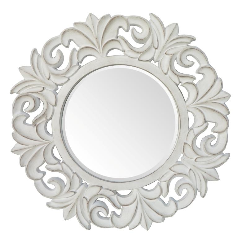 Specchio shabby chic intagliato