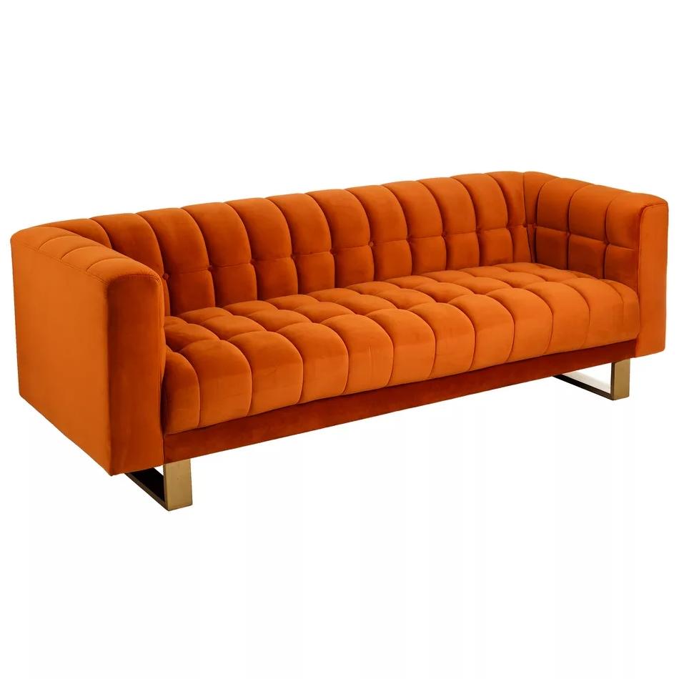 Divano 3 posti vintage arancione
