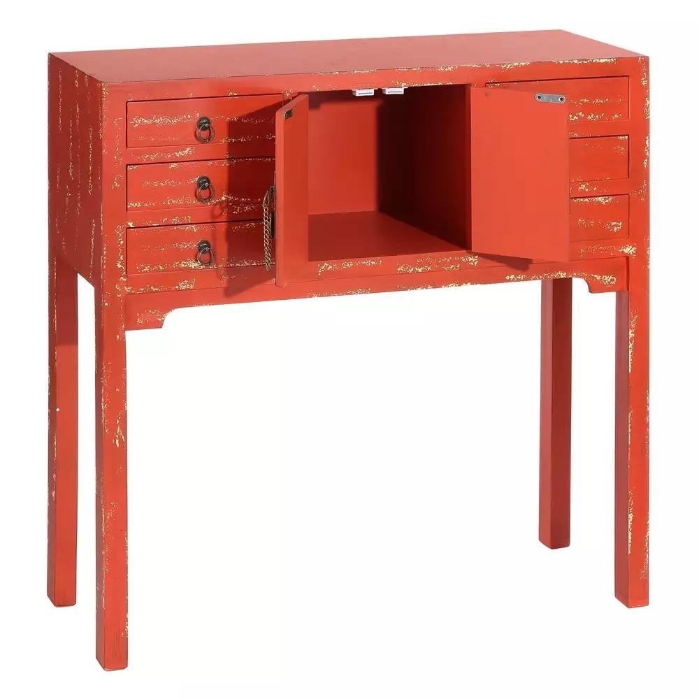 Consolle scrivania orientale rossaconsolle etniche cinesi for Consolle scrivania
