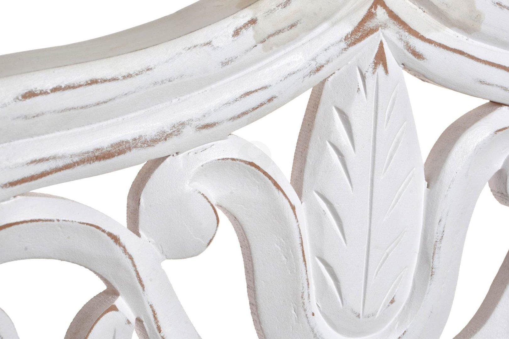 Testata letto orientale legno bianco testate etniche intagliate - Letto legno bianco ...