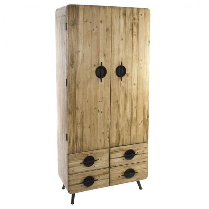 Armadio industrial legno naturale e ferro