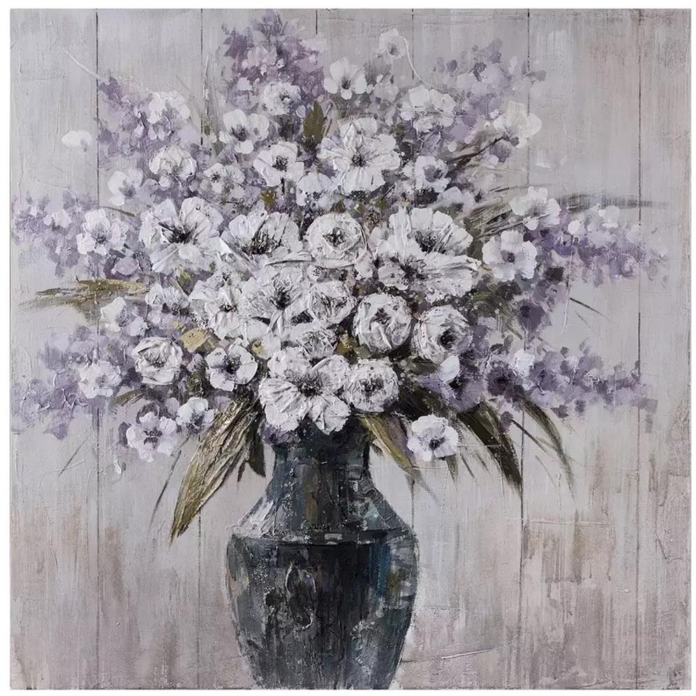 Quadro provenzale vaso di fiori - Quadri dipinti a mano online
