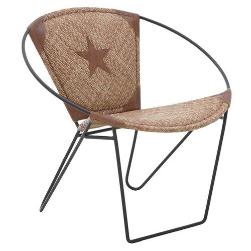 Poltroncina industrial chic pelle