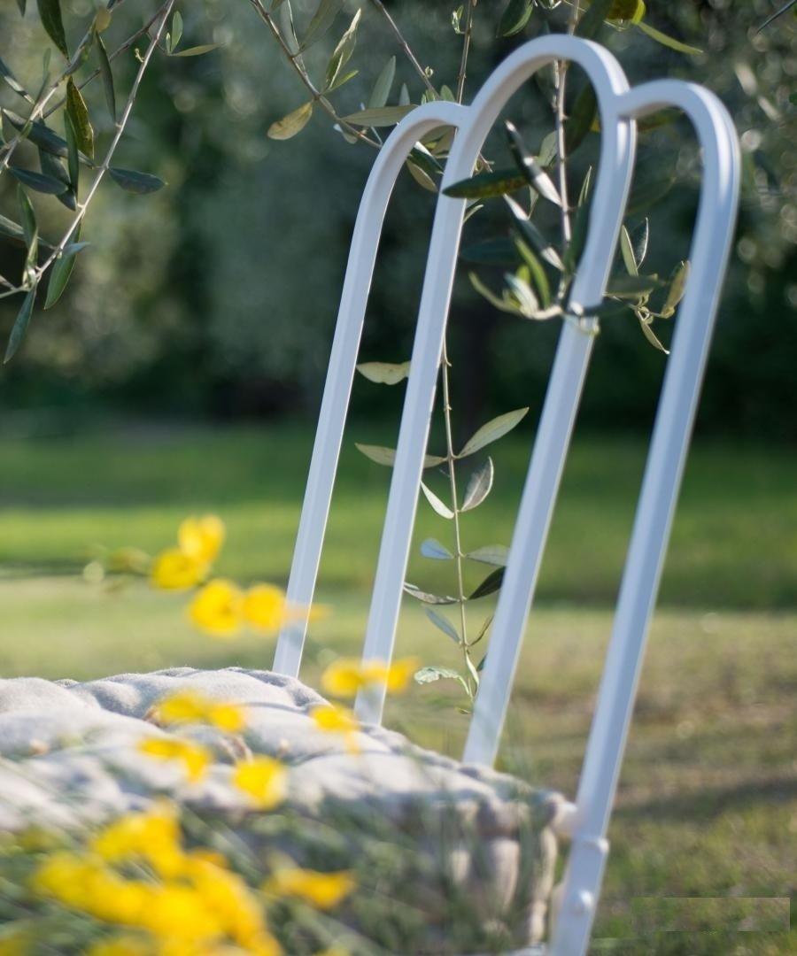 Sedia pieghevole da giardino bianca Mobili da giardino ...