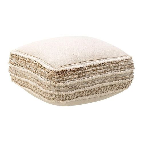 Cuscino boho chic beige decorato