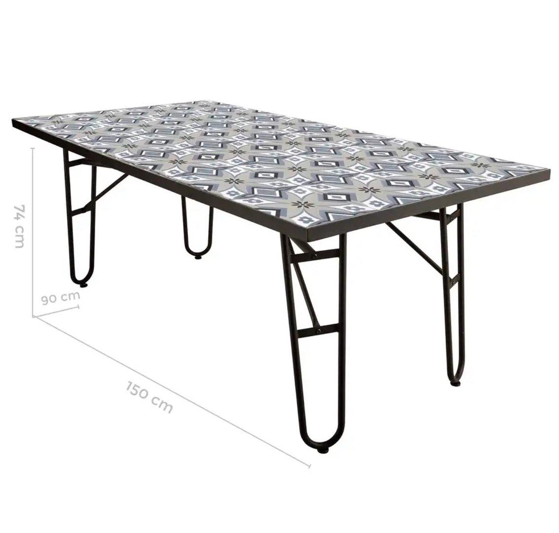 Tavoli Da Giardino Decorati.Tavolo Ferro Battuto Da Giardino Decorato Offerte Mobili Online
