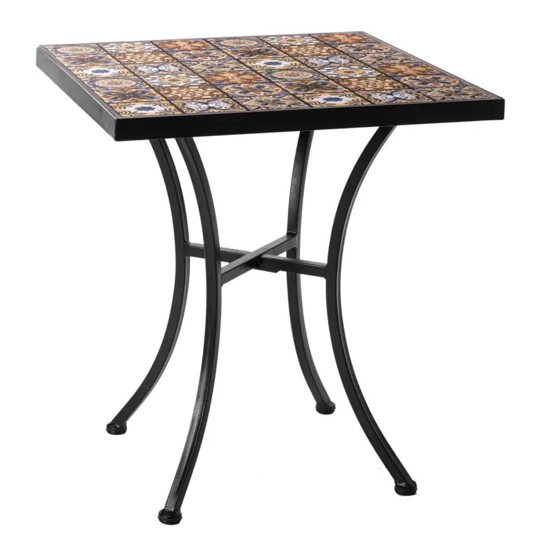 Tavoli Da Giardino Decorati.Tavolo Da Giardino Etnico Decorato Offerte Ferro Battuto